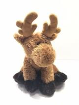 "Aurora World Brown Moose Reindeer 16"" Plush Soft - $24.74"