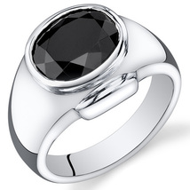 Men's Sterling Silver 6.5 Carats Black Onyx Ring - $89.99