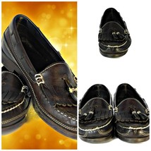 DEXTER USA Brown Leather Tassel Slip On Moc Toe Loafer Shoe Women's - $22.77