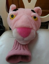 """Pink Panther Plush Golf Club Head Cover w/ knit sock bottom 16"""" - $30.00"""