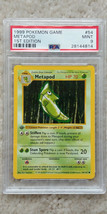 Pokemon Metapod 54/102 1st Edition Base Set PSA 9 1999 TCG Game Shadowless - $29.99