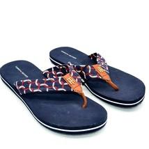 """Tommy Hilfiger Womens Cranie Flip Flop Sandals Size 7M Dark Blue 1"""" Stra... - $39.59"""