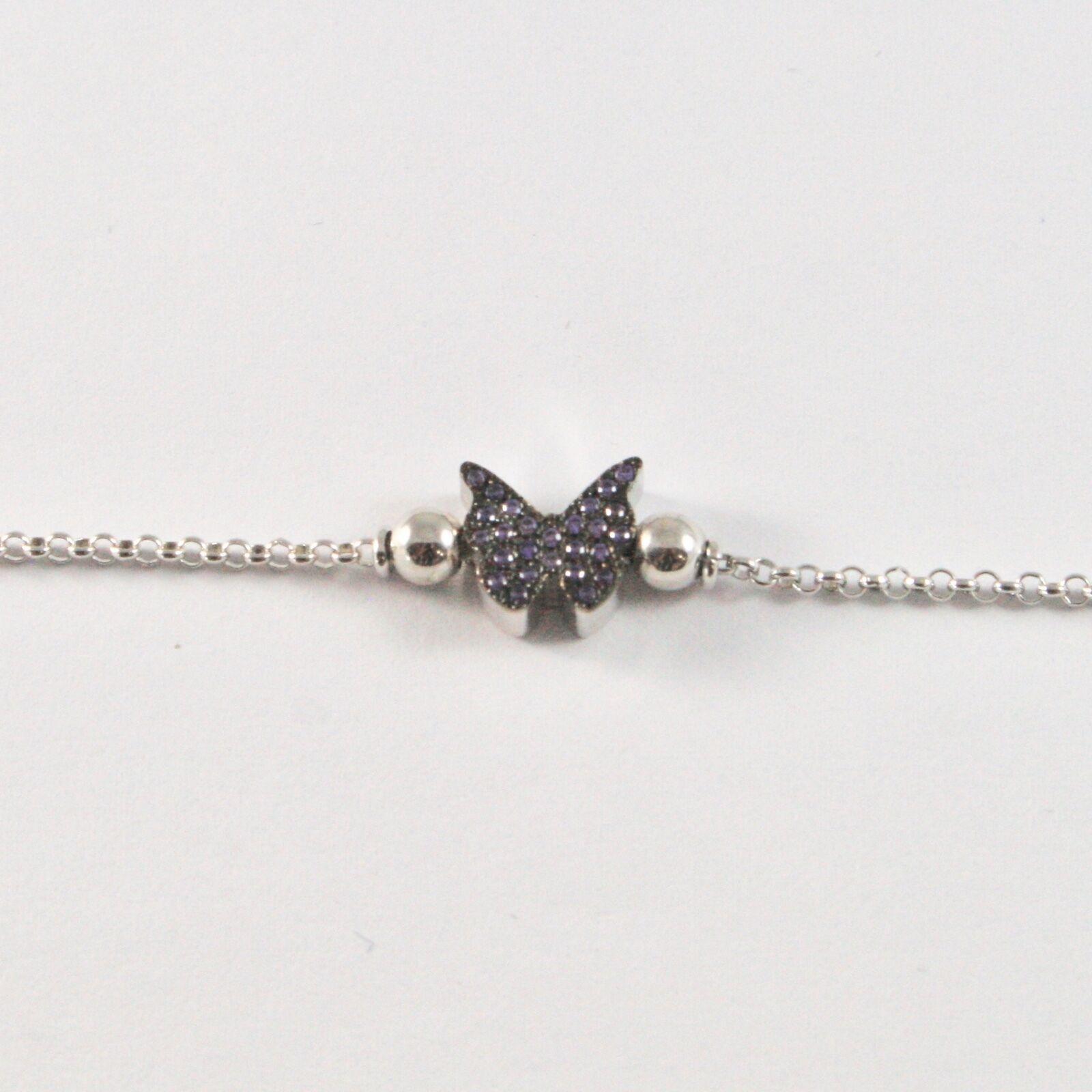Silber Armband 925 Jack&co mit Schmetterling Stilisiert Zirkonia Cubic JCB0886 image 2