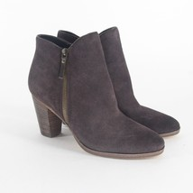 Cole Haan Hayes Bootie Java Brown Suede Stacked Boots Womens Size 11 B - $49.95
