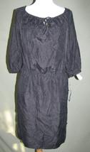 b832 $199 RALPH LAUREN 100% SILK CASUAL LITTLE BLACK DRESS P PT - $69.29
