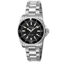 Gucci YA136403 Black Dial Stainless Steel Strap Ladies Watch - $786.99