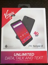 Virgin Mobile - ZTE Tempo X 4G LTE with 8GB Memory Prepaid Cell Phone - Black - $72.93