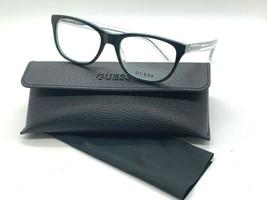 New Guess Frame GU2585 005 BLACK/CLEAR/LIGHT Green 52-17-135MM Case - $31.98