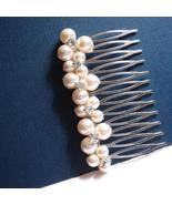 Handmade Swarovski Pearl Hair Comb - Bridal Accessory - $29.00+