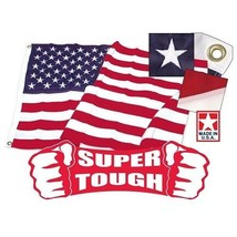 3' x 5' Super Tough Polyester American Flag  US Made & (2) U.S.CAR ANTEN... - $69.00