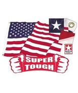 3' x 5' Super Tough Polyester American Flag  US Made & (2) U.S.CAR ANTEN... - $69.00
