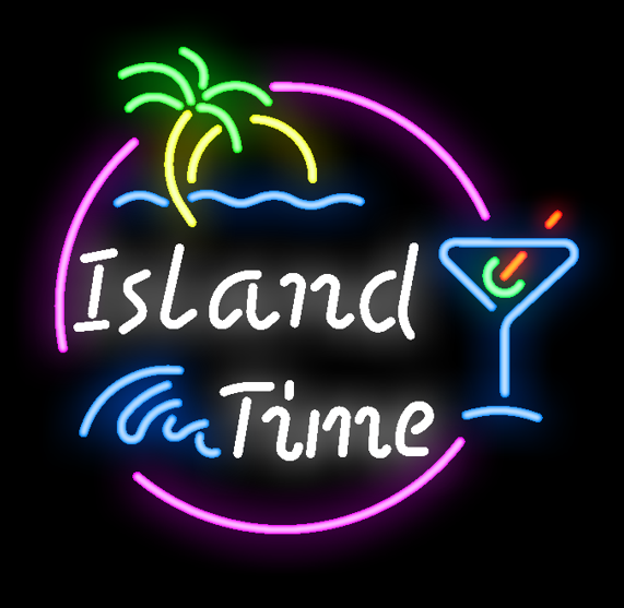 """New Island Time Lake Party Beach Time Neon Sign 24""""x20"""""""
