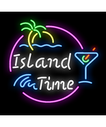 "New Island Time Lake Party Beach Time Neon Sign 24""x20"" - $208.00"