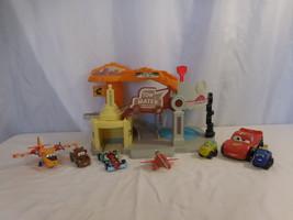 Disney Pixar Cars Tow Mater Luigi's Romones Radiator Springs Playset Rare + Cars - $58.02
