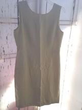 Womens Shift Dress Talbots Lime Green NWT Sz 12 Silk/Rayon/Wool sleeveless - $34.62