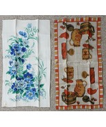 LOT vintage NOS 2p LINEN KITCHEN TOWELS unused LEACOCK and FALLINI & COHN - $42.50