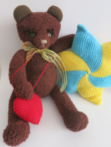 Handmade artist teddy bear soft toy - birthday gift - ooak - handcrafted - $45.00