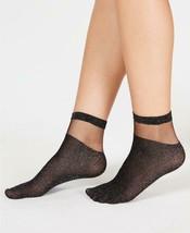 INC Women's Black Sheer Glitter Fashion Ankle Socks One Size MSRP $9 - $2.50