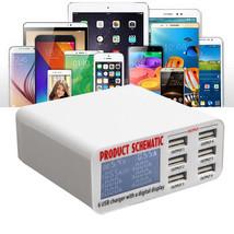 USB lader reislader met 6 poorten 6A  en digitaal display US EU UK AU - $34.94+