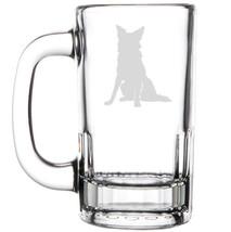 12oz Beer Mug Stein Glass Border Collie - $12.86