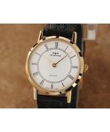 Ladies Technos 23mm Gold Plated Quartz Dress Watch, c.1980s Swiss J683 - $592.99