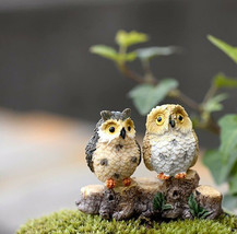 1 Pcs/lot Mini Bird Of Minerva Small Resin Decoration Owl Fairy Garden H... - $8.59