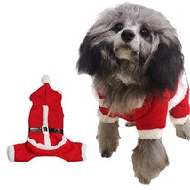 UHeng Funny Pet Dog Suit Christmas Costumes Winter Hoodies Xmas Santa Cl... - ₹575.33 INR