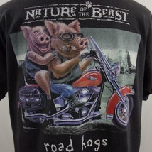 Nature of the Beast Road Hogs Mens Motorcycle Graphic Black T Shirt Sz XL - $24.09