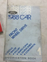 1988 Ford Specification Book Service Manual OEM Car Front Wheel Drive - $2.01