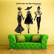 STICKERSFORLIFE Wall Decal Vinyl Sticker Decals Ladies Girls Coco Chanel... - $33.71