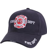Navy Blue Deluxe Fire Department Low Profile Baseball Hat Cap - $10.99