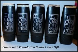 "NEW ""GOSH"" X-CEPTIONAL WEAR FOUNDATION  #11 #12  #14  #16  #18 FREE BRUS... - $9.75"