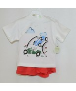 Snopea Two Piece Boys Short Set Race Cars Red Shorts White Shirt Size 9 ... - $29.00