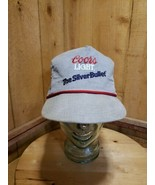 Vintage Coors Light THE SILVER BULLET Gray Corduroy Adjustable Cap Hat 8... - $58.61