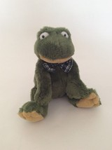 "Ganz Heritage Collection Green Quintin The Frog W/ Blue Plaid Bow Tie 8"" Plush - $11.29"