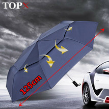 TopX® 125cm Big Automatic Quality Double Layer Umbrella Unisex 3Fold Win... - $31.09
