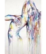 WOMAN WATERCOLOUR ART IMAGE Poster Gloss Print  - $5.06+