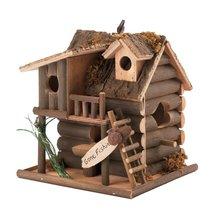 Outdoor Bird House, Modern Outdoor Hanging Wooden Birdhouses - $21.99