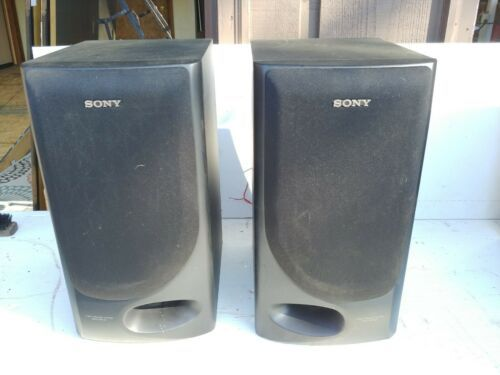 Primary image for VINTAGE SONY SS-M55 BOOK SHELF STEREO SPEAKER  3 WAY BASS REFLEX 80W 6 OHMS