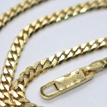 MASSIVE 18K GOLD GOURMETTE CUBAN CURB CHAIN 3.5 MM 24 IN. NECKLACE MADE IN ITALY image 4