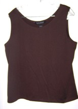 Dialogue Brown Sleeveless Cami Top Size L  Polyester Blend - $23.74