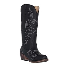 Women's Western Cowgirl Cowboy Boot | Black Reno Snip Toe by Silver Canyon - $93.41