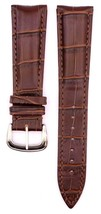 Compatible Franck Mull.. Crocodile 22mm Brown Genuine Leather Watch Stra... - $39.59