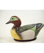 Mallard Duck Lint Brush Bisque Porcelain Hand Painted Collectible Vintag... - $14.80