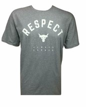Under Armour Mens UA Project Rock Respect T-Shirt 1347698-035 Gray/White... - $24.98