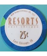 25¢ Casino Chip. Resorts, E Chicago, IN. O85. - $4.29