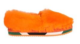 Dolce & Gabbana Women Orange Rabbit Fur Espadrilles Loafers EU39/US8.5 - $246.62