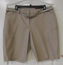 Apt. 9® Modern Fit Dressy Bermuda Shorts COBBLESTONE Women's Sz14 NWT MS... - $24.42