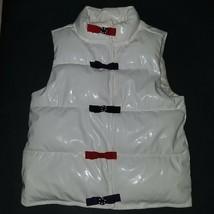 Gymboree White Puffer Vest Bows Girls Size 5-6 Winter Penguin - $19.75