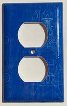 Batman Batmobile Car Blueprint Light Switch Outlet wall Cover Plate Home Decor image 2